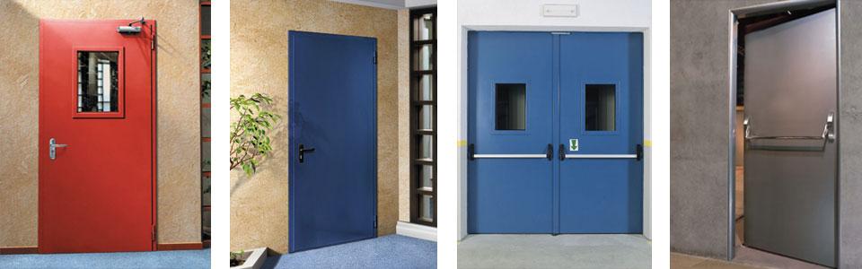Однопольные и двупольные двери, противопожарные двери EI-60 и EIS-90 от 6500 рулей